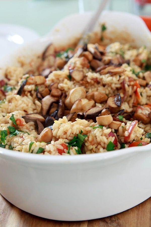Arroz Caldoso - Spanischer Reis mit Geflügelbrühe