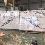 China White Marble Slab Pure White Marble Medallion Open Bookmatched Marble Tiles