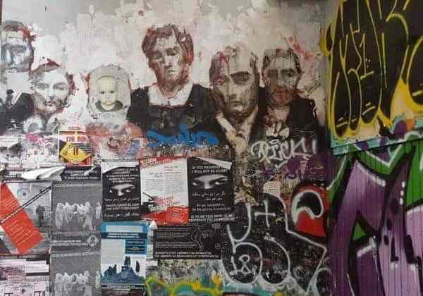 Borondo street art in Exarchia Athens