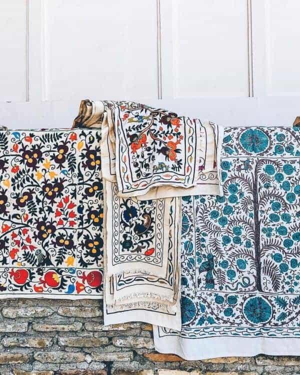 Beautiful handicrafts are sold all over Uzbekistan