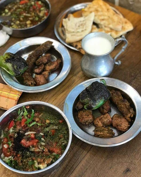 Food from Turkey: Meze is comprised of lots of small variety dishes