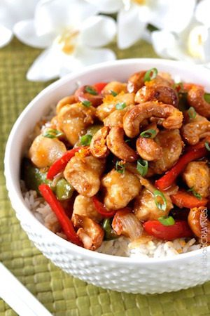 Sweet and Spicy Cashew Ginger Chicken Stir Fry - 30 Minute Back to School Meals