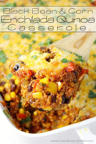 Black Bean and Corn Enchilada Quinoa Casserole - Easy Meal Plan #14