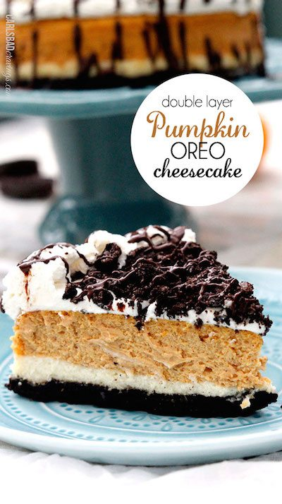 Double Layer Pumpkin Oreo Cheesecake - Easy Meal Plan #14