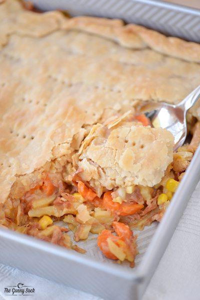 Cheesy Ham Pot Pie - Easy Meal Plan #17