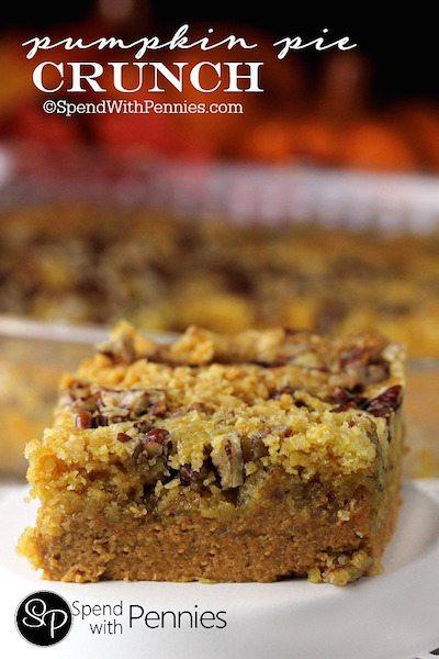 Pumpkin Pie Crunch - Easy Meal Plan #16