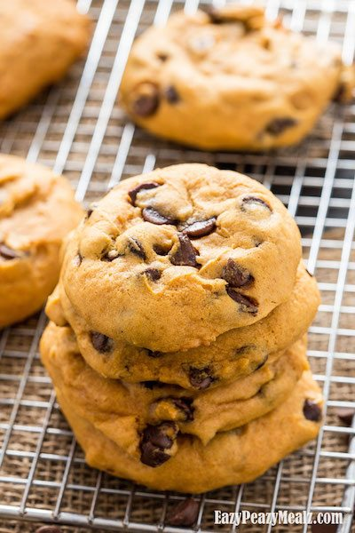 Pumpkin Chocolate Chip Cookies - Easy Meal Plan #17