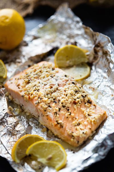 Lemon Basil Garlic Butter Salmon - Easy Meal Plan #25
