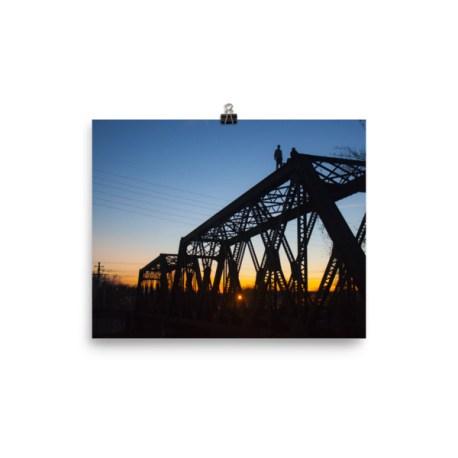 Railroad Bridge Sunset Print