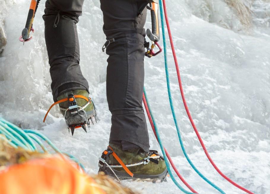 Ice climbing in West Virginia
