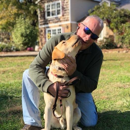 service dog with steve