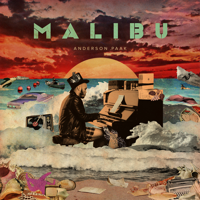 "Image result for Anderson Paak ""Malibu"" cover"