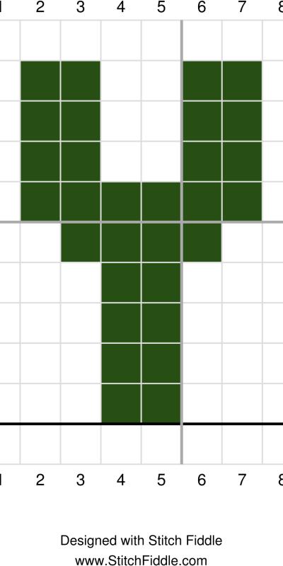 Y graph st patricks day wreath crochet