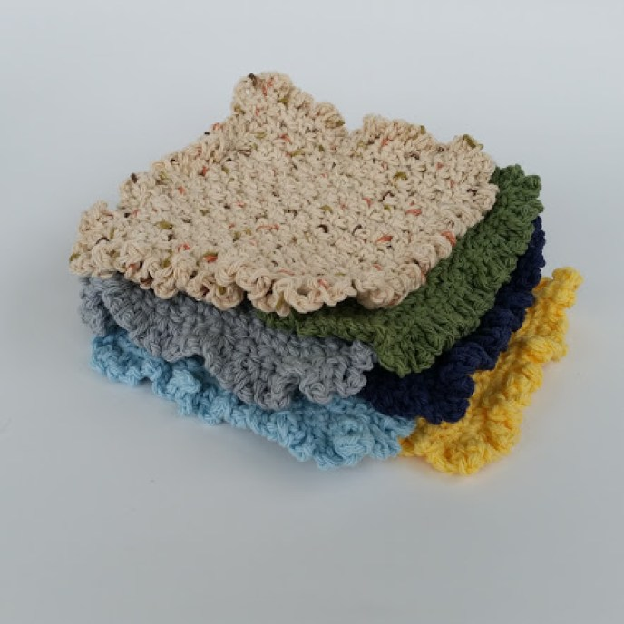 ruffle washcloth dishcloth crochet