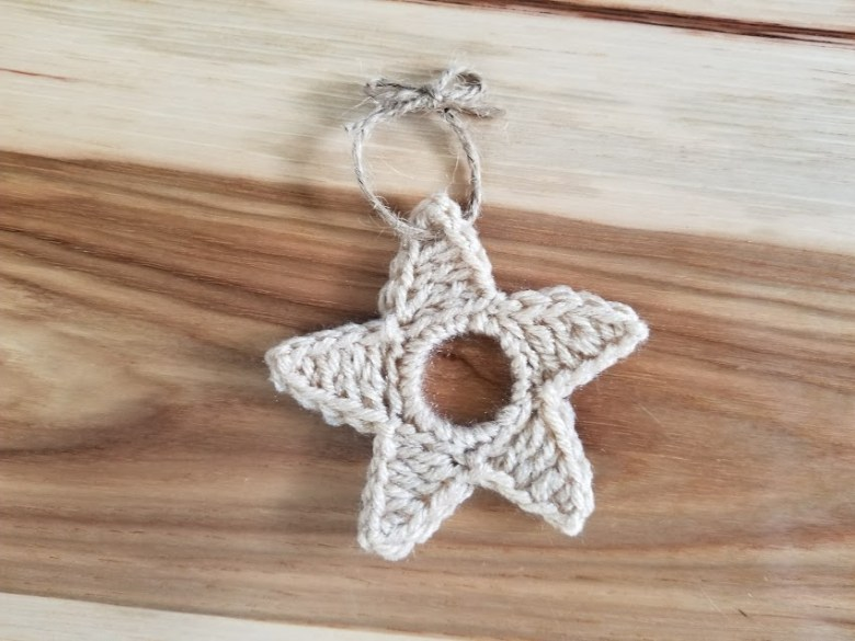 Upcycled Star ornament