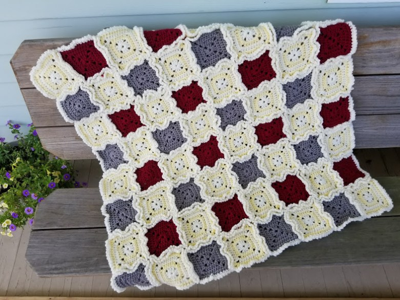 Rag Quilt Style Baby Blanket Highland Hickory Designs