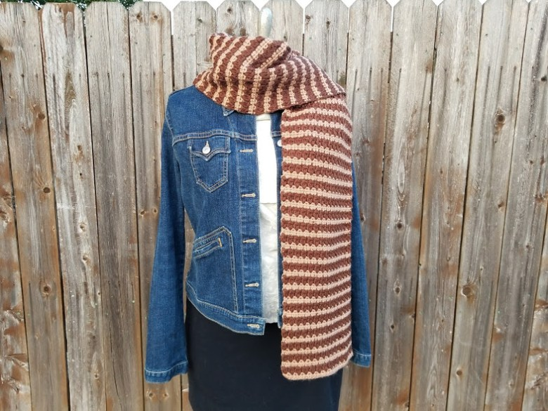 angled cluster scarf