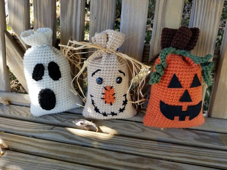 halloween bag trio