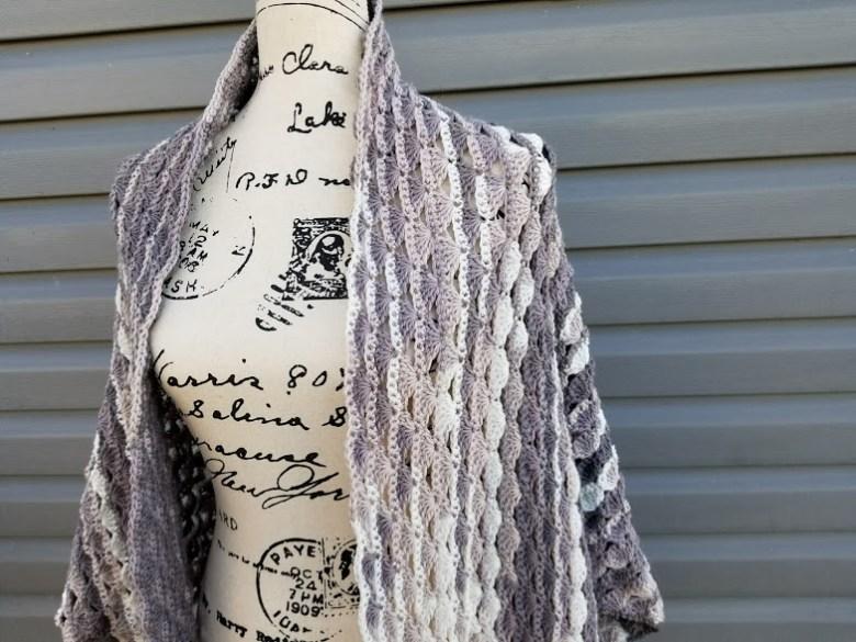 snowy sky shawl