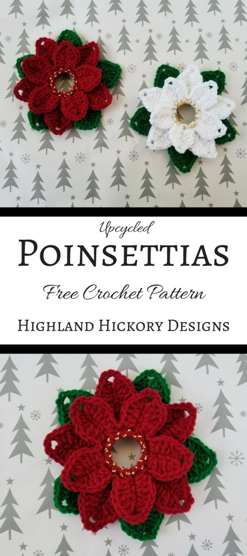 Upcycled Poinsettias Highland Hickory Designs