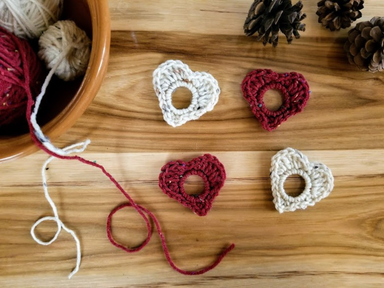 upcycled heart garland