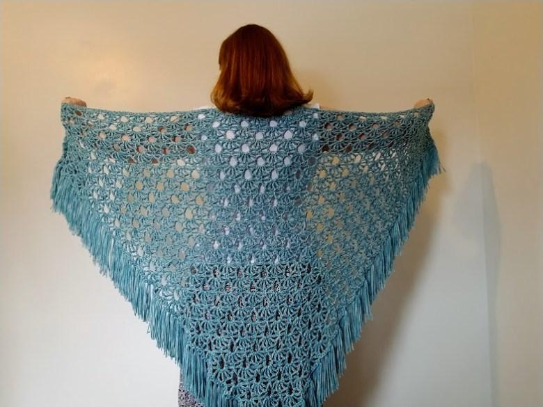 April Showers Shawl Free Crochet Pattern Highland Hickory Designs