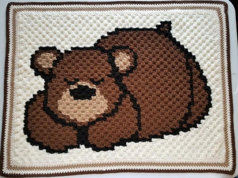 Sleepy Bear Baby Blanket