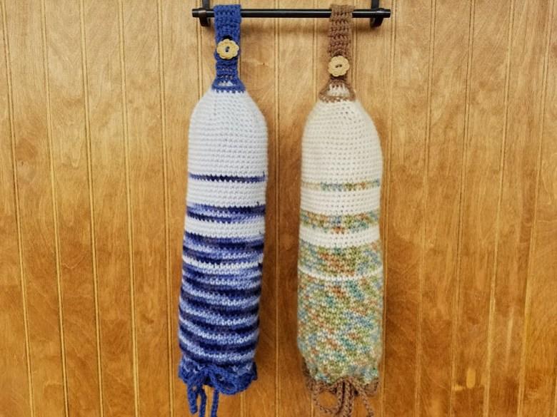 Plastic Bag Sleeve Highland Hickory Designs Free Crochet Pattern