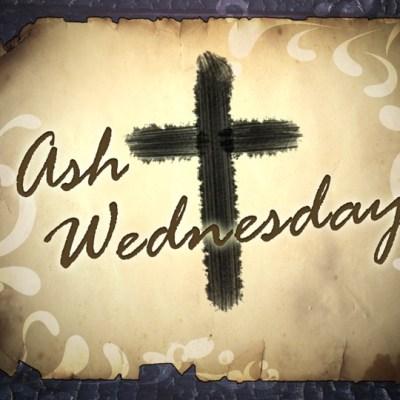 Ash Wednesday background