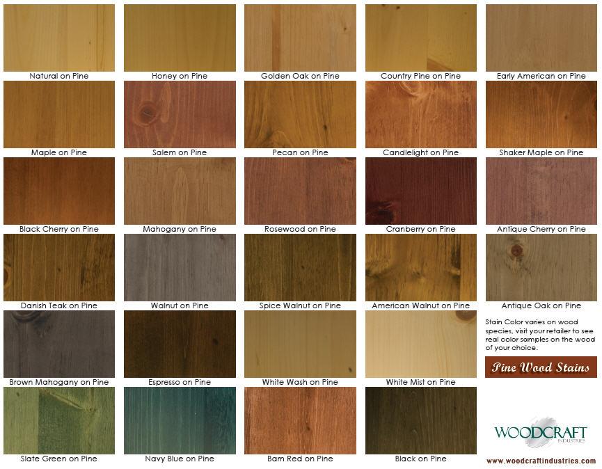 Polyshades Color Chart On Pine