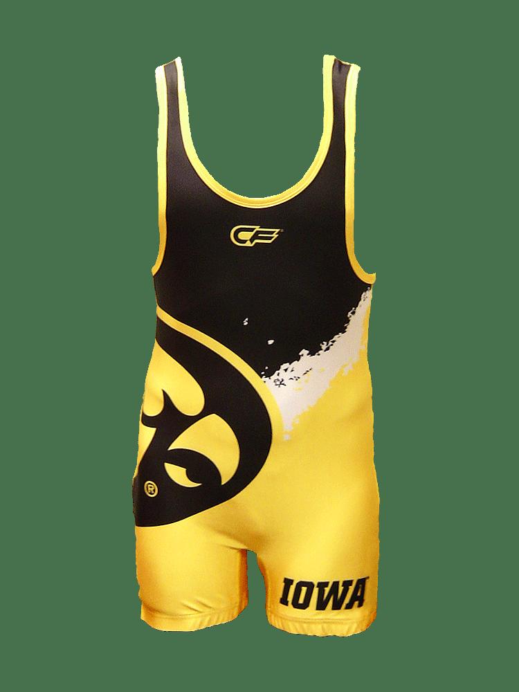 Cage Fighter 2015 NCAA Iowa Splatter Singlet