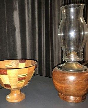 Vase en bois décoration