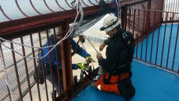 Rope Access to the top of Blackpool Tower