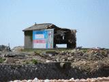 津波で倒壊した家屋3