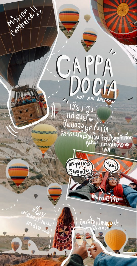 hot air balloon, cappadocia, turkey