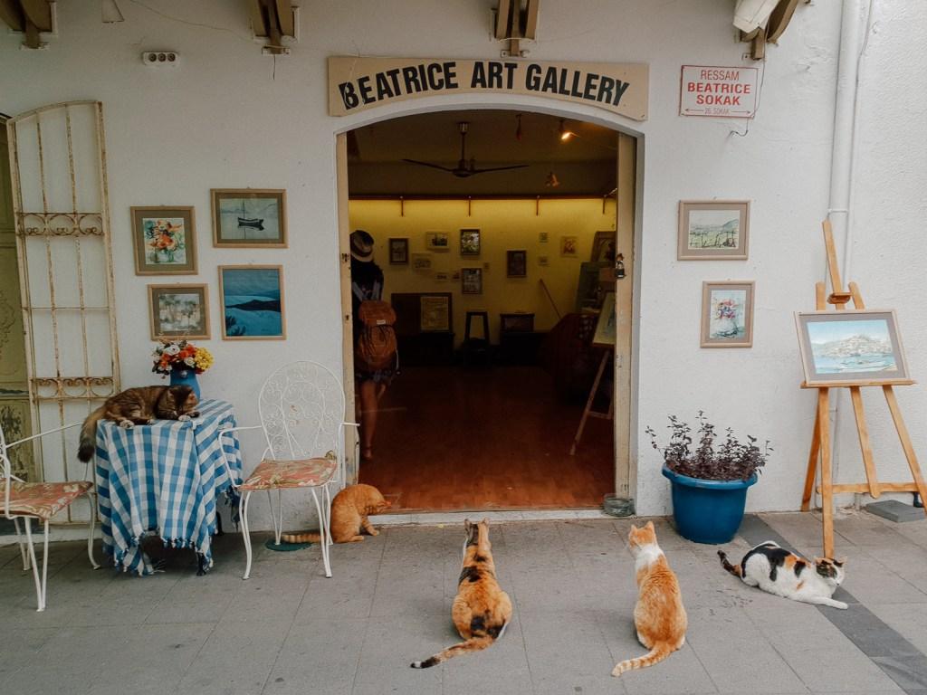 the art gallery in Marmaris , turkey