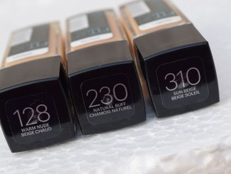 maybelline fit foundation 310 , 230, 128 (3)