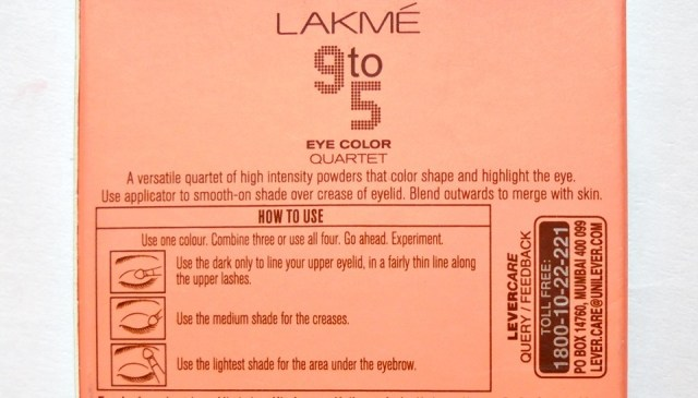 Lakme 9 to 5 Eye Color Quartet in Silk Route (5)