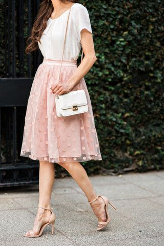 Pair a tulle with classic clutch