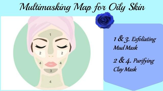 Multimasking Map For Oily SKin