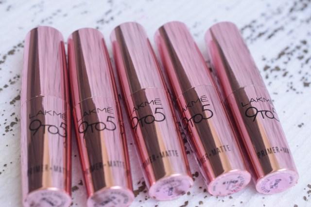 Lakme 9 to 5 Primer + Matte Lip Color - Packaging