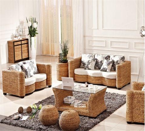 Living Room Cane Furniture