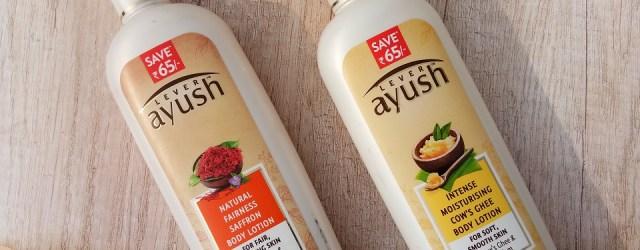 Ayush Intensive Moisturizing Cow's Ghee Body Lotion & Natural Fairness Saffron Body Lotion