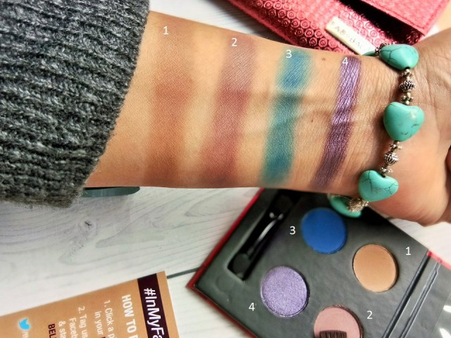 SUGAR Blend The Rules Eyeshadow Quad in Skyfall Swatches