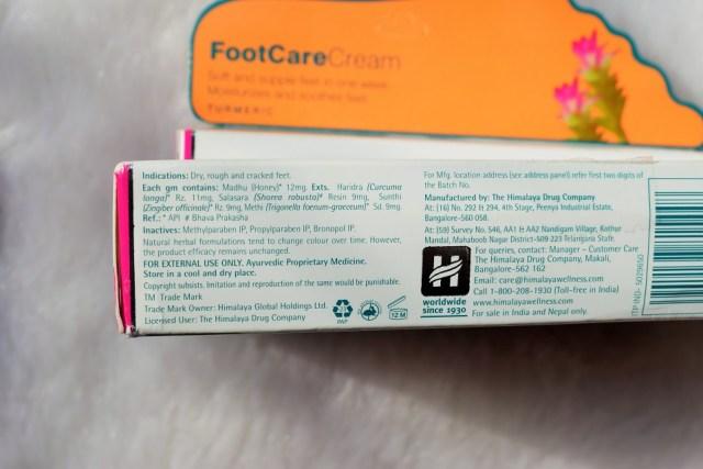 Himalaya FootCare Cream Ingredients