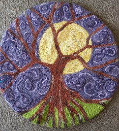 """""""Tree of Life,"""" 28"""" diameter, recycled bedsheets"""