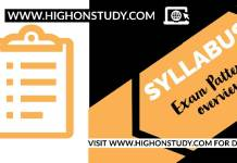 Syllabus and Exam Pattern