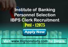 Institute of Banking Personnel Selection Jobs