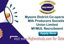 Mysore District Co-operative Milk Producers Societies Union Limited JObs