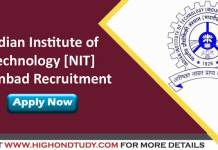 Indian Institute of Technology (Indian School of Mines), Dhanbad Jobs